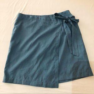 HYFVE blue wrap skirt